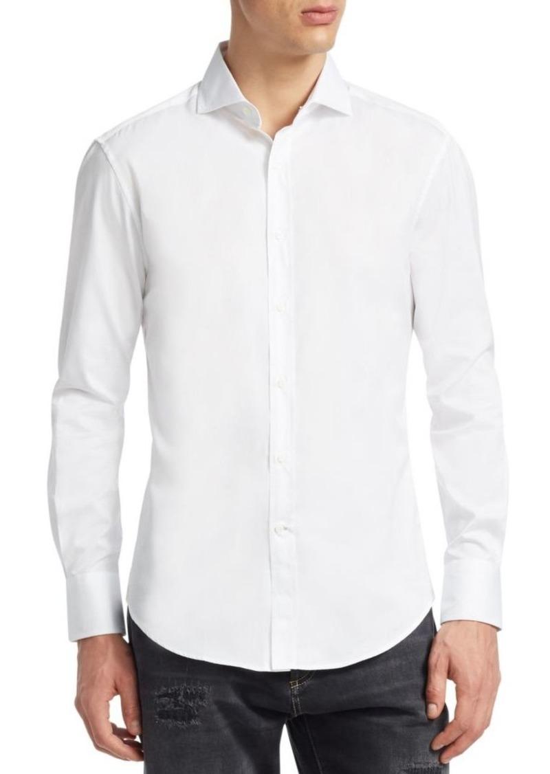 Brunello Cucinelli Basic-Fit Cotton Button-Down Shirt