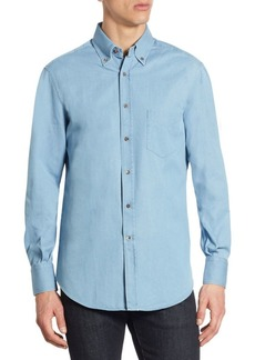 Brunello Cucinelli Cotton Chambray Button-Down Shirt