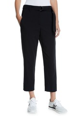 Brunello Cucinelli Cotton-Crepe Belted Ankle Pants