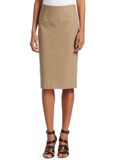Brunello Cucinelli Cotton Pencil Skirt
