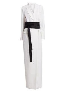 Brunello Cucinelli Couture Kimono Belted Coat Dress