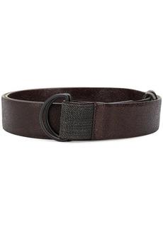 Brunello Cucinelli cracked-effect D-ring belt