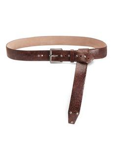 Brunello Cucinelli Crackle Leather Belt