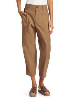Brunello Cucinelli Crinkled Cotton-Blend Pants