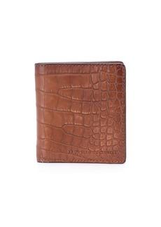 Brunello Cucinelli crocodile fold wallet