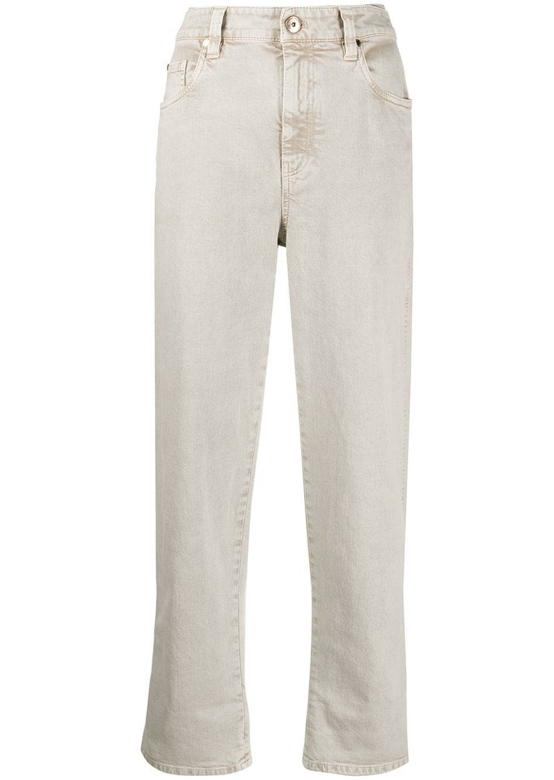Brunello Cucinelli cropped boyfriend fit jeans
