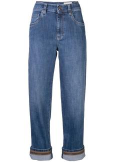 Brunello Cucinelli cropped boyfriend jeans