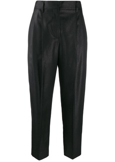 Brunello Cucinelli cropped high-rise trousers