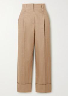 Brunello Cucinelli Cropped Pleated Gabardine Pants