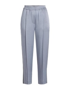 Brunello Cucinelli Cropped Satin Track Pants