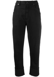 Brunello Cucinelli cropped straight leg jeans