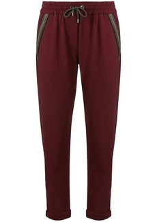 Brunello Cucinelli cropped track trousers