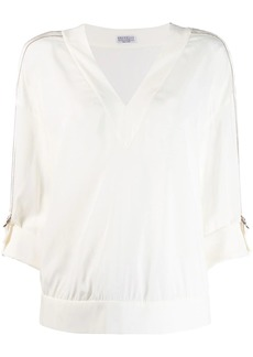 Brunello Cucinelli D-ring detail top