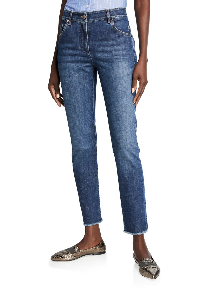Brunello Cucinelli Dark-Wash Skinny Jeans
