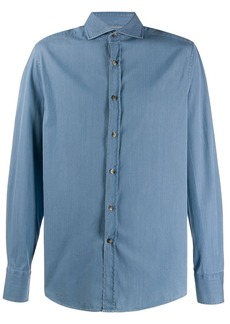 Brunello Cucinelli denim fitted shirt