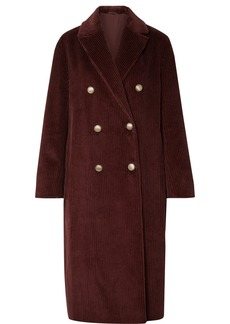 Brunello Cucinelli Double-breasted Cotton-corduroy Coat