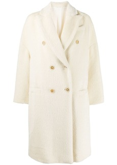 Brunello Cucinelli double-breasted knit coat