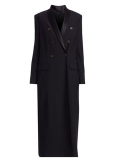 Brunello Cucinelli Double Breasted Long Wool Overcoat