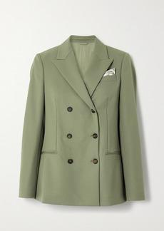Brunello Cucinelli Double-breasted Wool Blazer
