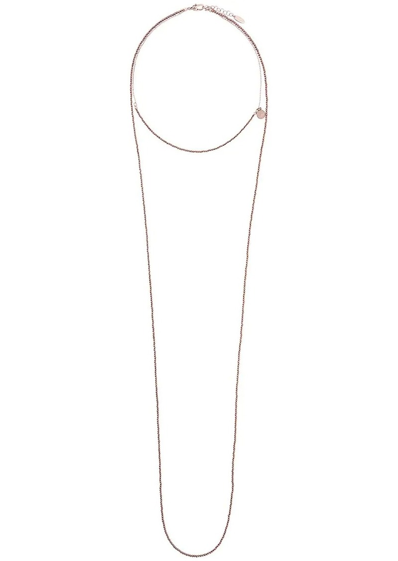 Brunello Cucinelli double chain necklace