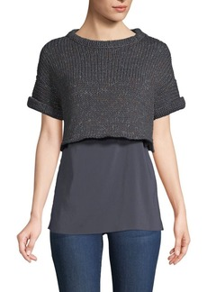 Brunello Cucinelli Double Layer Sweater Top