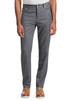 Brunello Cucinelli Double Pinstriped Wool Pants