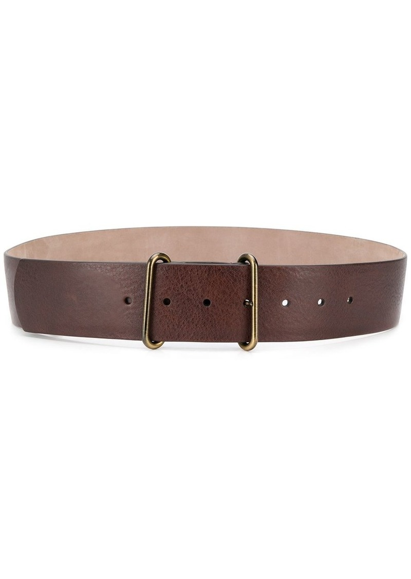 Brunello Cucinelli double ring leather belt