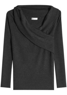 Brunello Cucinelli Draped Cashmere Top