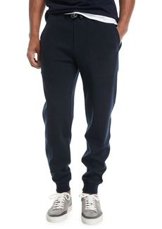Brunello Cucinelli Drawstring Knit Spa Sweatpants