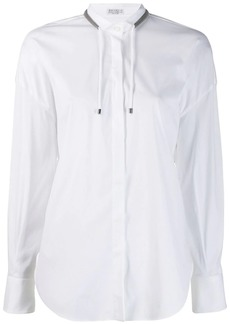 Brunello Cucinelli drawstring long-sleeve shirt