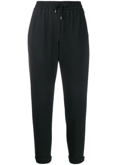 Brunello Cucinelli drawstring track trousers