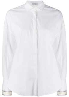 Brunello Cucinelli embellished cuff shirt
