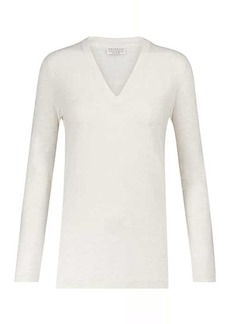 Brunello Cucinelli Embellished stretch-cotton T-shirt