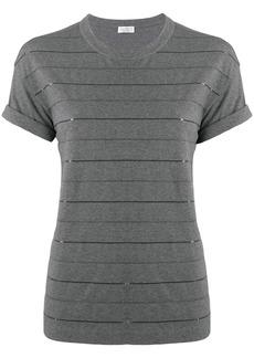 Brunello Cucinelli embellished stripes T-shirt