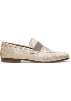 Brunello Cucinelli Embellished Velvet Loafers