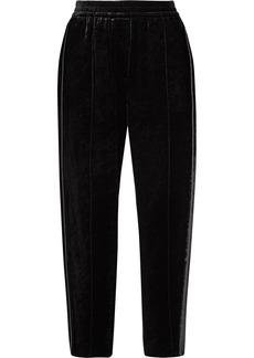 Brunello Cucinelli Embellished Velvet Track Pants