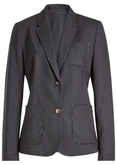 Brunello Cucinelli Embellished Virgin Wool Blazer