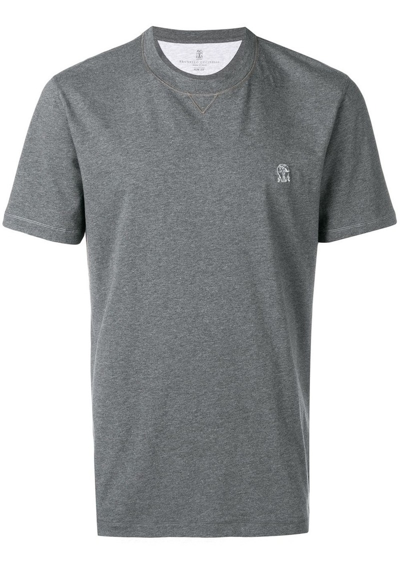 Brunello Cucinelli embroidered logo T-shirt