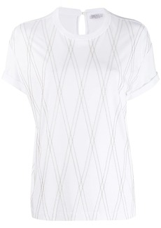 Brunello Cucinelli embroidered short-sleeve T-shirt