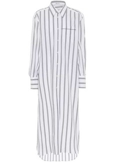 Brunello Cucinelli Exclusive to Mytheresa – Striped stretch-cotton shirt dress