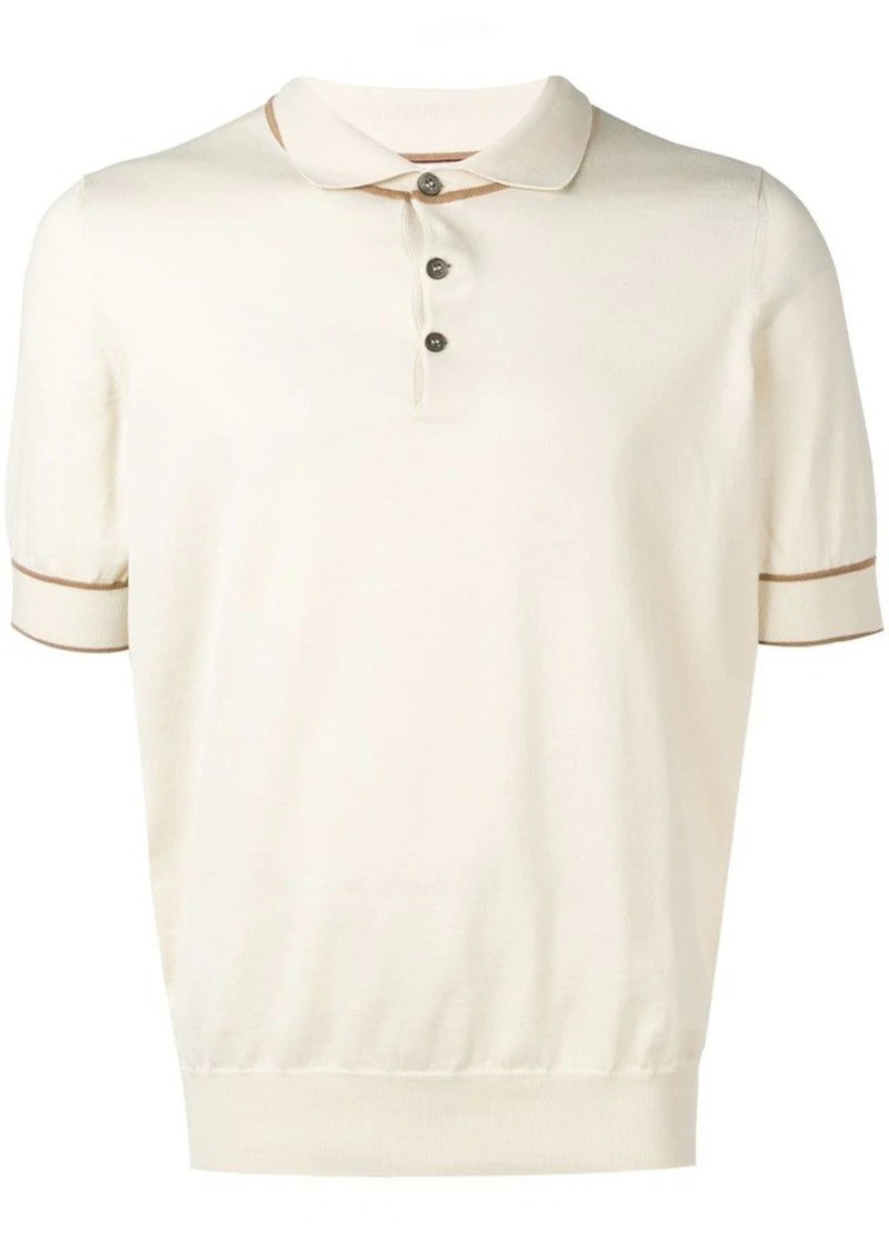 Brunello Cucinelli fine knit polo shirt