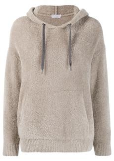 Brunello Cucinelli fleece hooded jumper