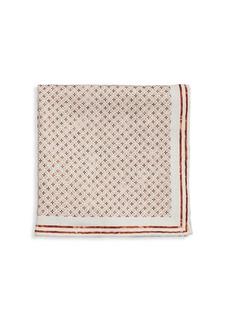 Brunello Cucinelli Floral-Embroidered Silk Pocket Square