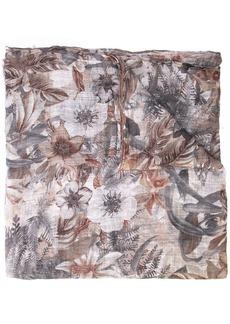 Brunello Cucinelli floral print scarf