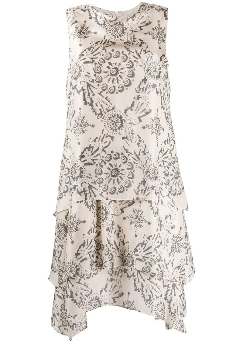 Brunello Cucinelli floral tile-print sleeveless dress