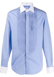 Brunello Cucinelli formal pleated-bib shirt