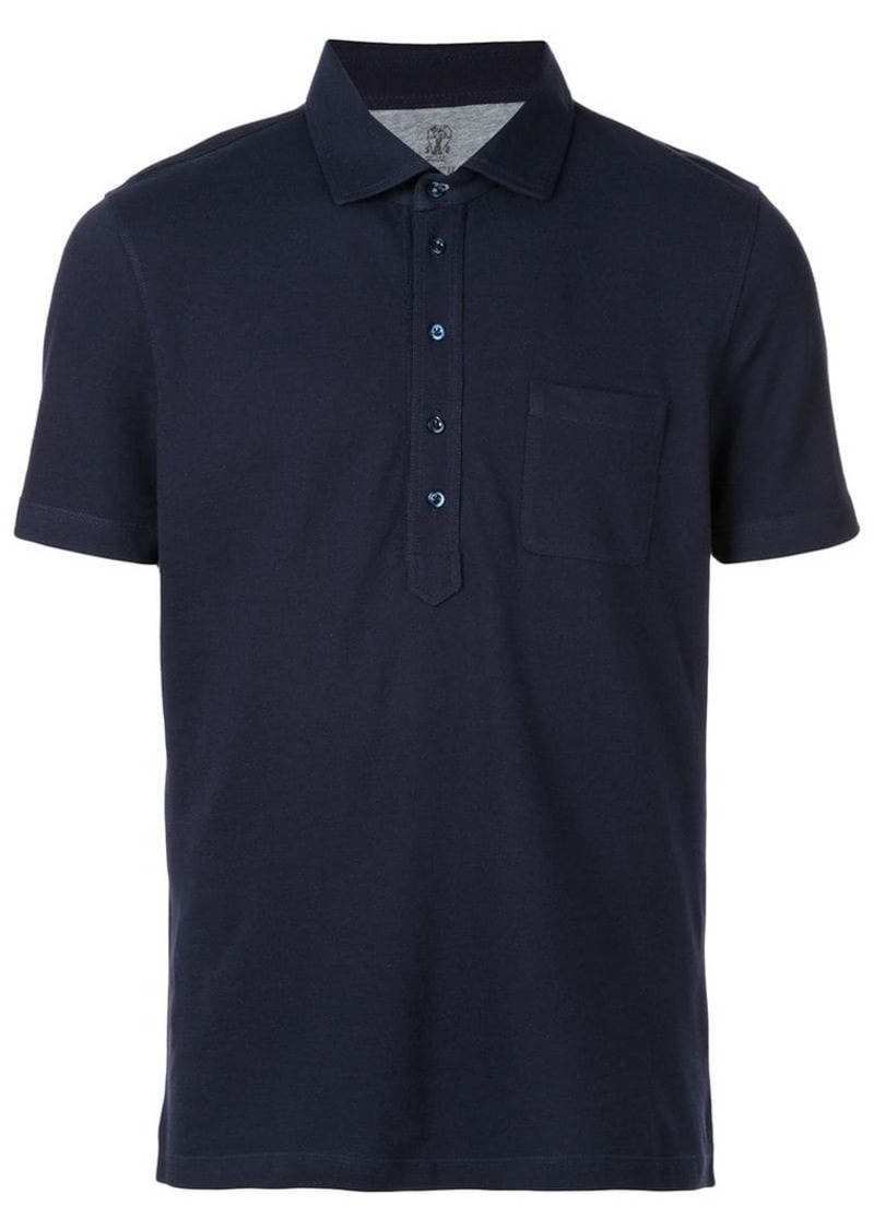 Brunello Cucinelli front pocket polo shirt