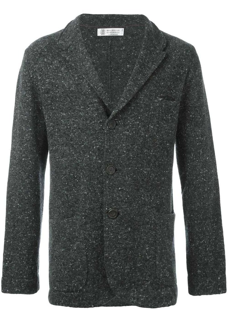 Brunello Cucinelli Fumo fitted cardigan