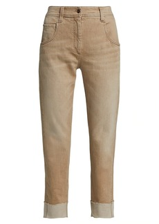 Brunello Cucinelli Garment Dye Cuffed Pants