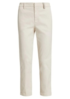 Brunello Cucinelli Garment Dyed Monili Cropped Jeans